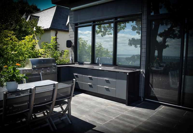id es d am nagement de cuisine ext rieure station grill. Black Bedroom Furniture Sets. Home Design Ideas